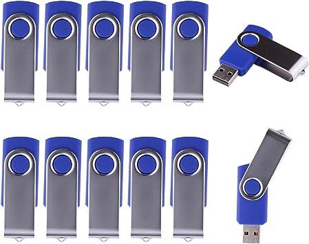 LHN 16GB Swivel USB Flash Drive USB 2.0 Memory Stick Blue