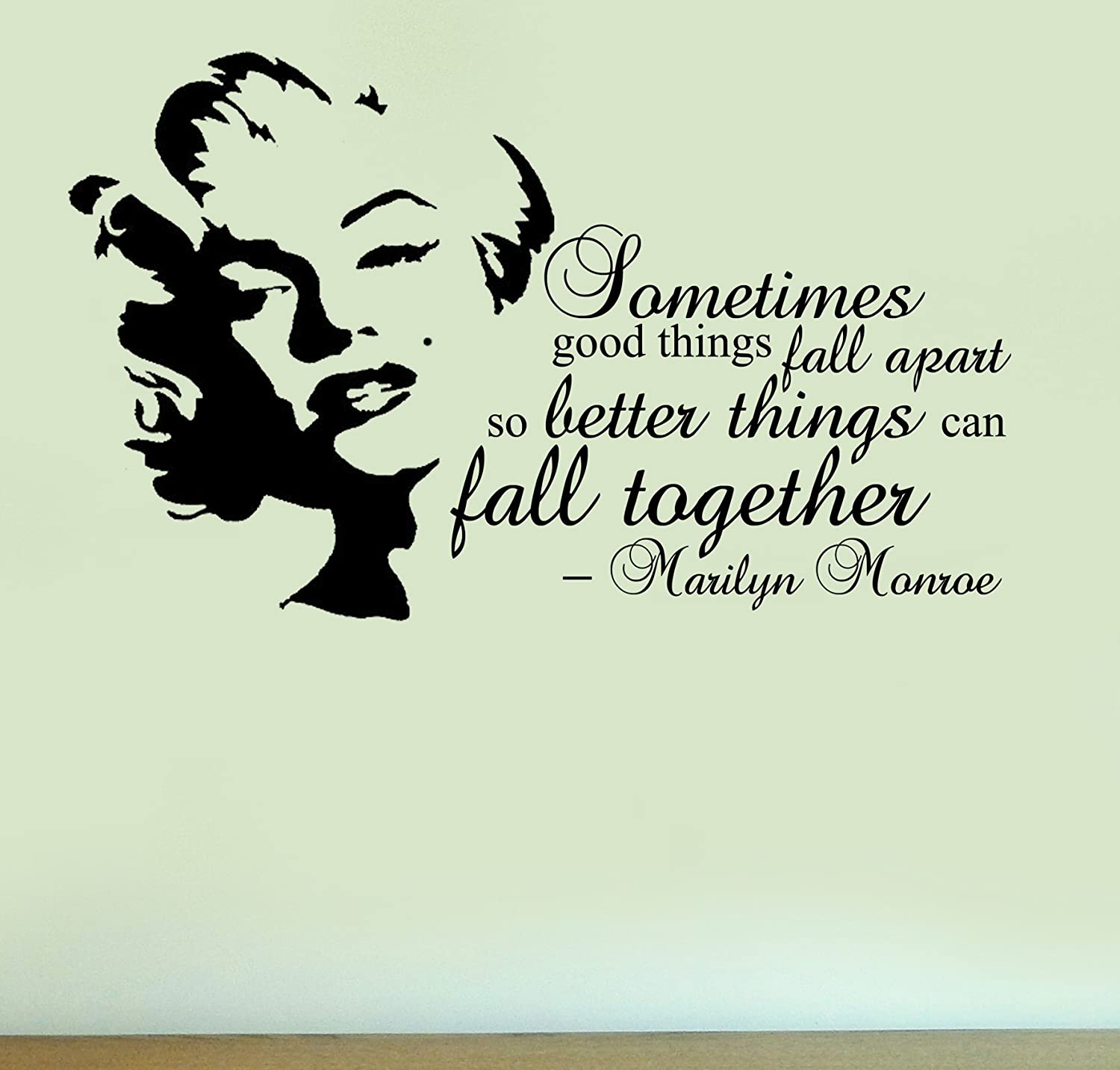 Marilyn Monroe Fall Together Quote Vinyl Wall Art Sticker Home - Wall decals marilyn monroe