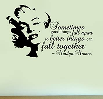 Marilyn Monroe   Fall Together Quote   Vinyl Wall Art Sticker Home Deco  Silhouette Decal Part 49