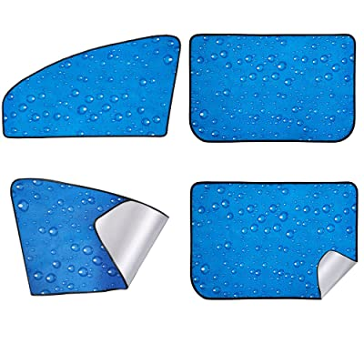 Car Sun Shade, Rear Front Window Shade Side Window Sunshade Baby 4pcs: Automotive