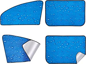 Car Sun Shade, Rear Front Window Shade Side Window Sunshade Baby 4pcs