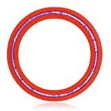 Arshiner Real Action Flying Ring Frisbee, Sprint Ring - Single Unit (Red Color),Flying Discs For Both Adults And Kids