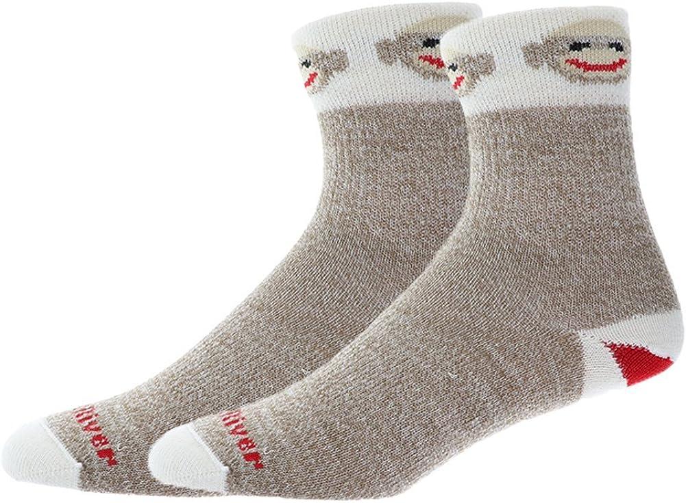 Fox River Monkey Smiles Ultra-Lightweight Merino Crew Socks Bundle 2 Pair