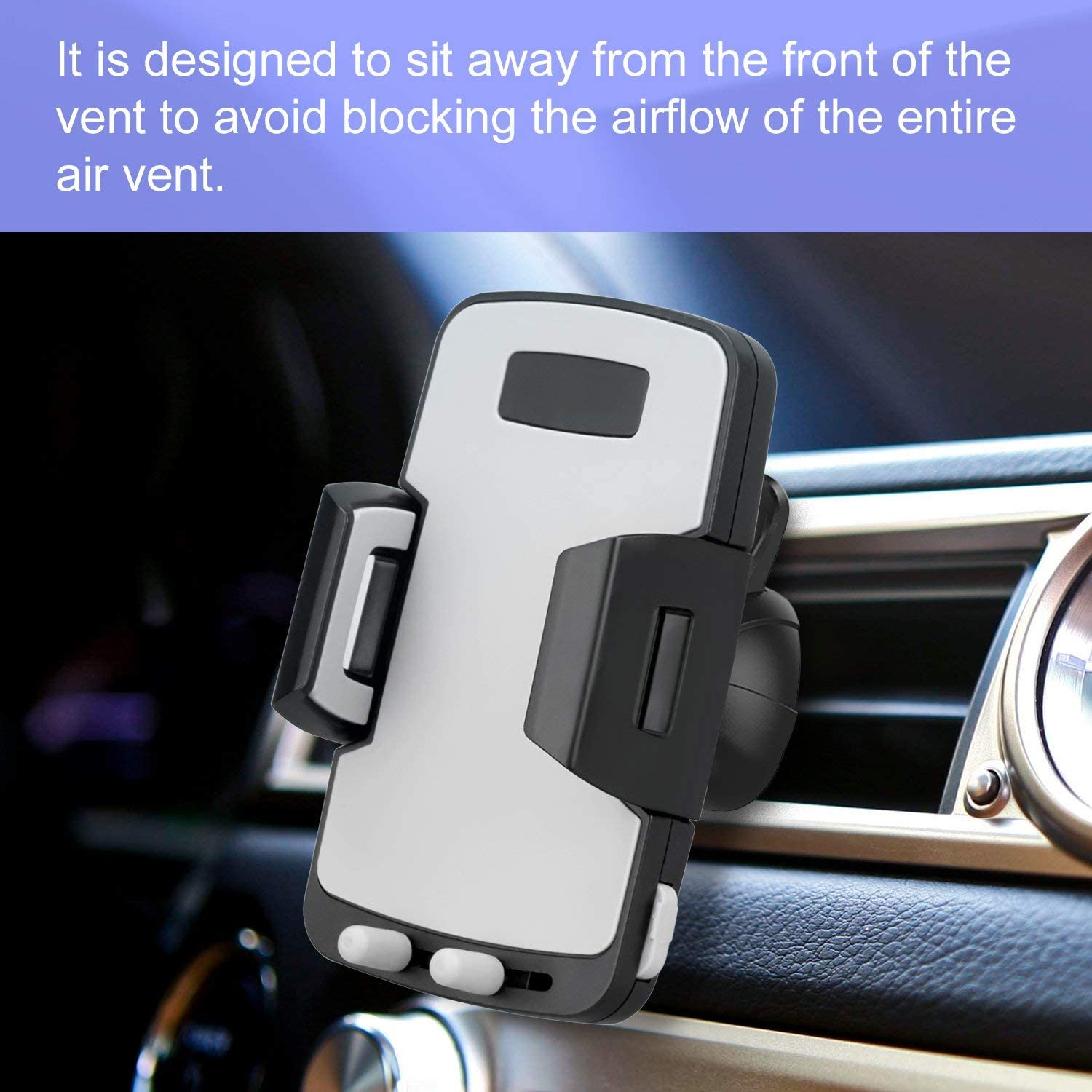 Avolare Support Telephone voiture Support Telephone Voiture Ventilation R/églable Pour iPhone X//8 Plus//8//7//7Plus//6//6Plus GPS etc. Samsung Galaxy S8//S8 Plus//Note 8//S7 Edge//A7//A5//