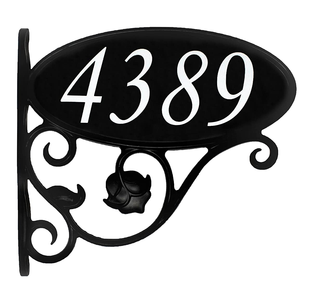 "USA Hand-Crafted Custom Made Double Sided Park Place Super Reflective Mailbox Address Sign - Large 4"" Easy to Read Numbers"