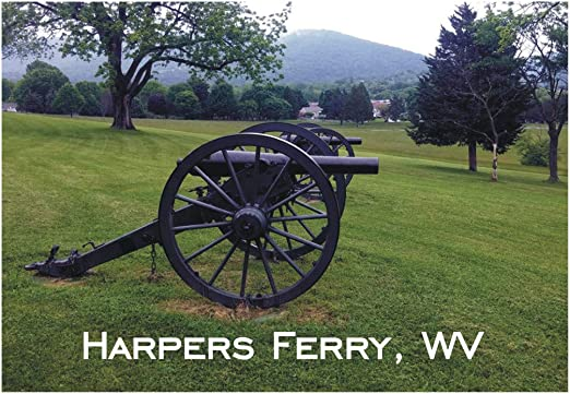 Classic Virginia with Cannon Fridge Magnet