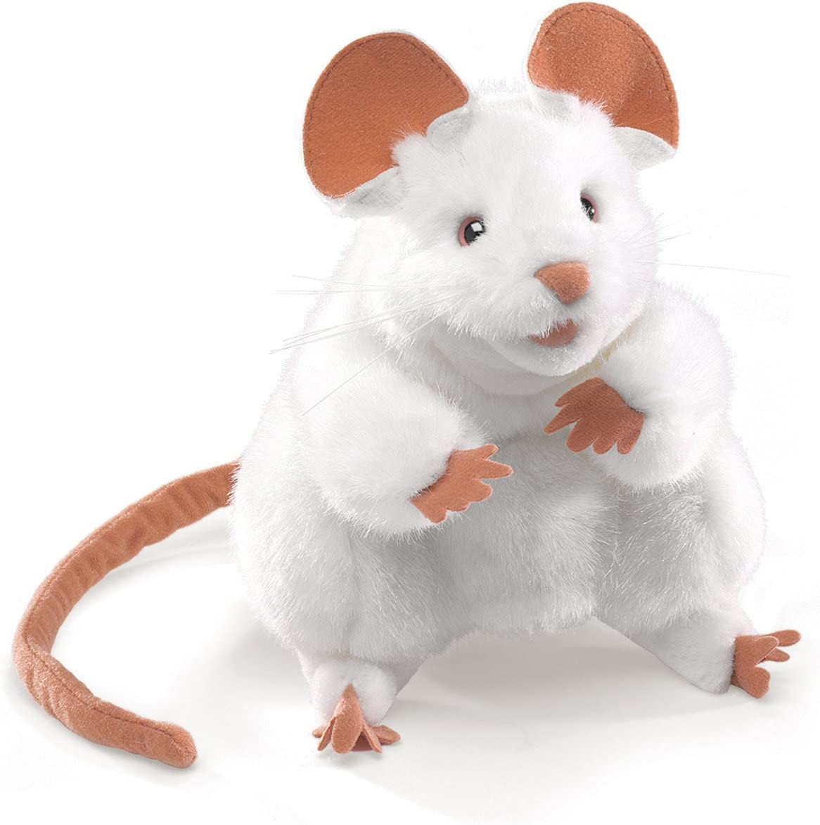 B00000K5CK Folkmanis Mouse Hand Puppet, White 71Y9sChafCL