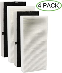 IOYIJOI 4 Pack True HEPA Filter Replacement for Honeywell U Filter HRF201B Compatible with Honeywell HHT270, HHT290 Series Air Cleaner