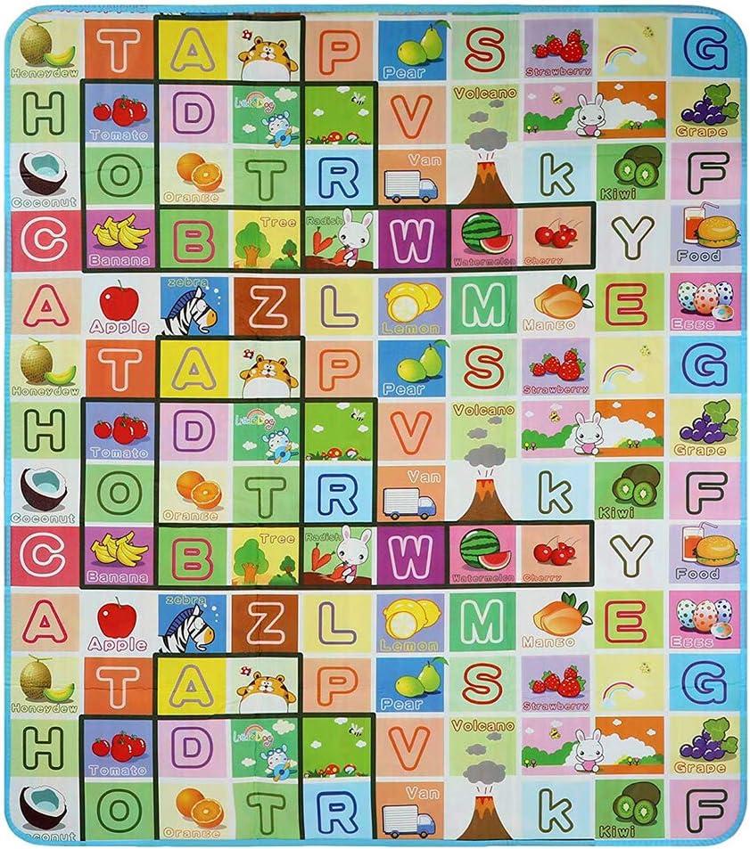 Animal, 180 x 200 cm Beb/é Crawl Mat Ni/ños Alfombra de juego Alfombra de juego Alfombra de ni/ños rompecabezas Alfombra de rastreo de gatito Ni/ño guarder/ía de mat Colchoneta de picnic