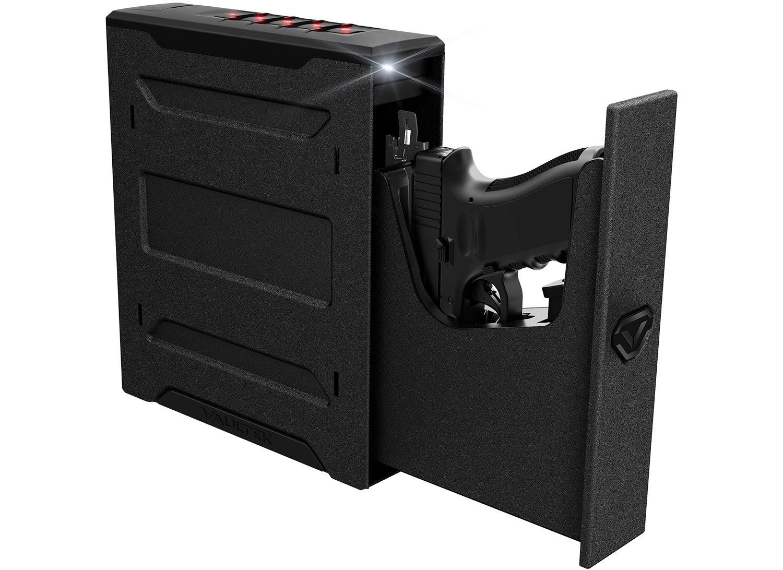 Vaultek Essential Series Quick Access Portable Safe Auto Open Lid Rechargeable Lithium-ion Battery (SE20 (Slider Safe))