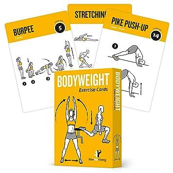 TARJETAS DE EJERCICIO BODYWEIGHT - Guía de programa de ejercicios con entrenador personal: Amazon.es: Deportes y aire libre