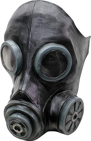 Máscara de gas negra adulto - Única