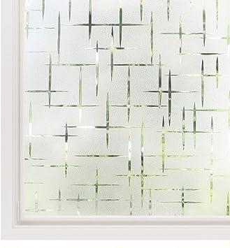 Sichtschutzfolie Fensterfolie Milchglas Dekofolie statisch Fenster Glas
