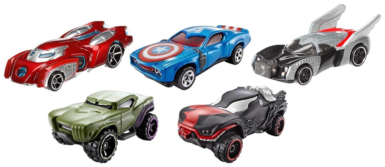 Hot Wheels Marvel Avengers Die-Cast Vehicle, 5-Pack BMJ62