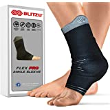 Blitzu #1 Ankle Brace Medical Grade Plantar Fasciitis Compression Sock, Best Foot Sleeve with Arch Support, Injury Recovery, Joint Pain Eases Swelling, Heel Spurs, Achilles tendon, Sprains, Strains