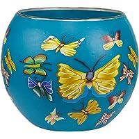 Him Butterfly Cristal/portavelas candelabros, 11x11x9 cm