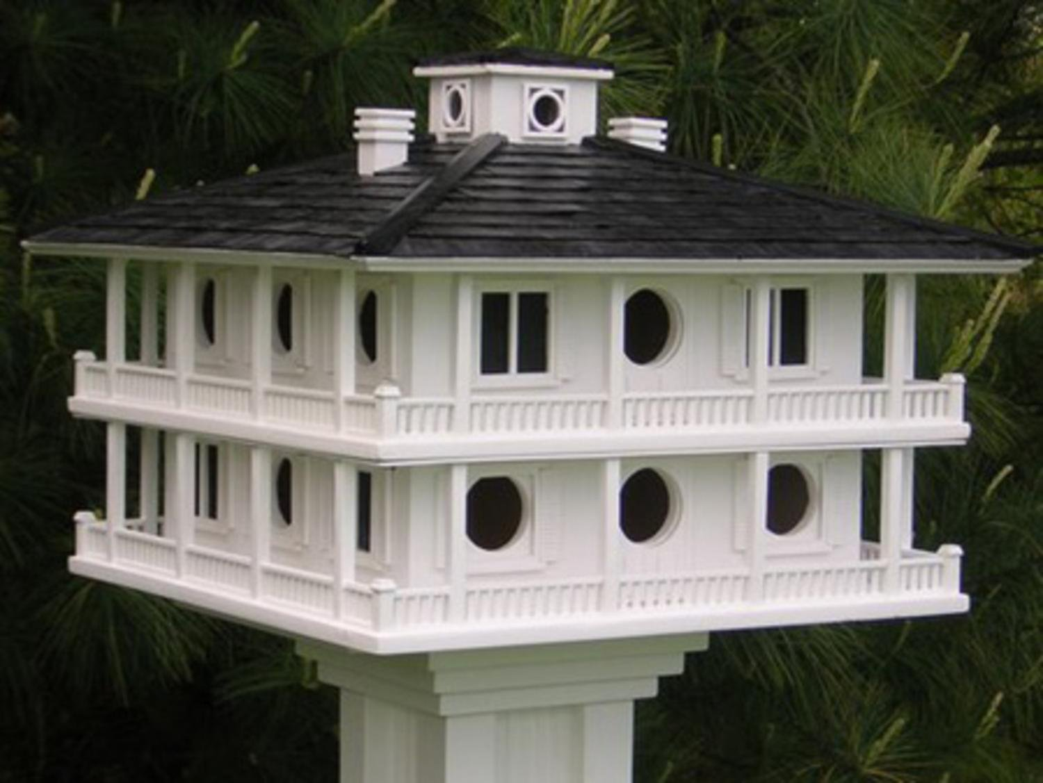 24'' Fully Functional Elaborate Mansion Style Outdoor Garden Birdhouse by CC Home Furnishings