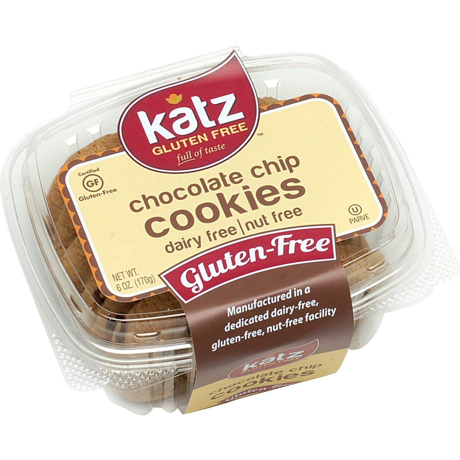 Katz Gluten Free Chocolate Chip Cookies | Dairy, Nut and Gluten Free | Kosher (6 Packs, 6 Ounce Each) by Katz Gluten Free