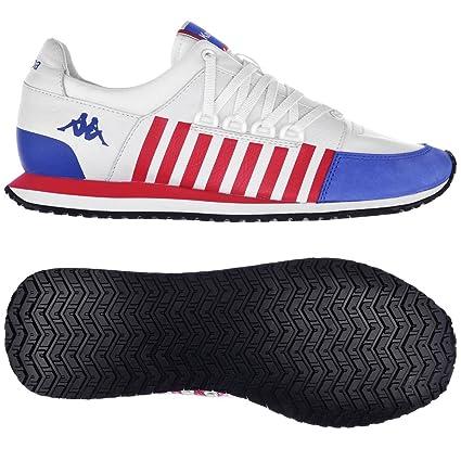 Sneakers Us Pelle Bianco Authentic Rosso Blu Kappa Scarpe One La84 n6SBnvqZ