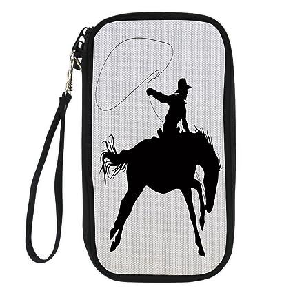 5b6d72acad3a Amazon.com : iPrint Cartoon, Silhouette of Cowboy Riding Horse Rider ...
