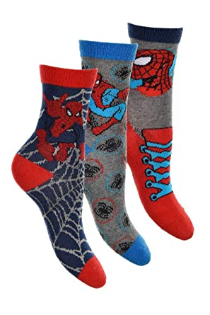 Pack 6 pares de calcetines multicolor diseño SPIDERMAN (marvel) num 23/26 27