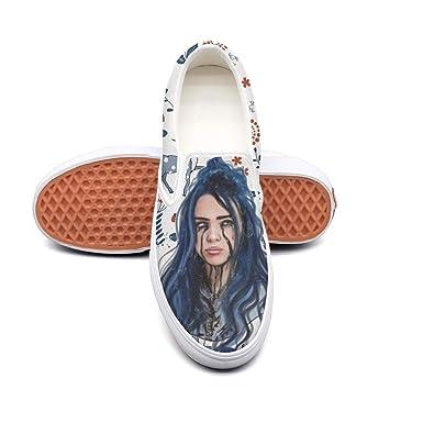 3998bba1eaab6 Billie-Eilish Classic Canvas shoes Slip On Skate Sneakers men women unisex  Durable shoe