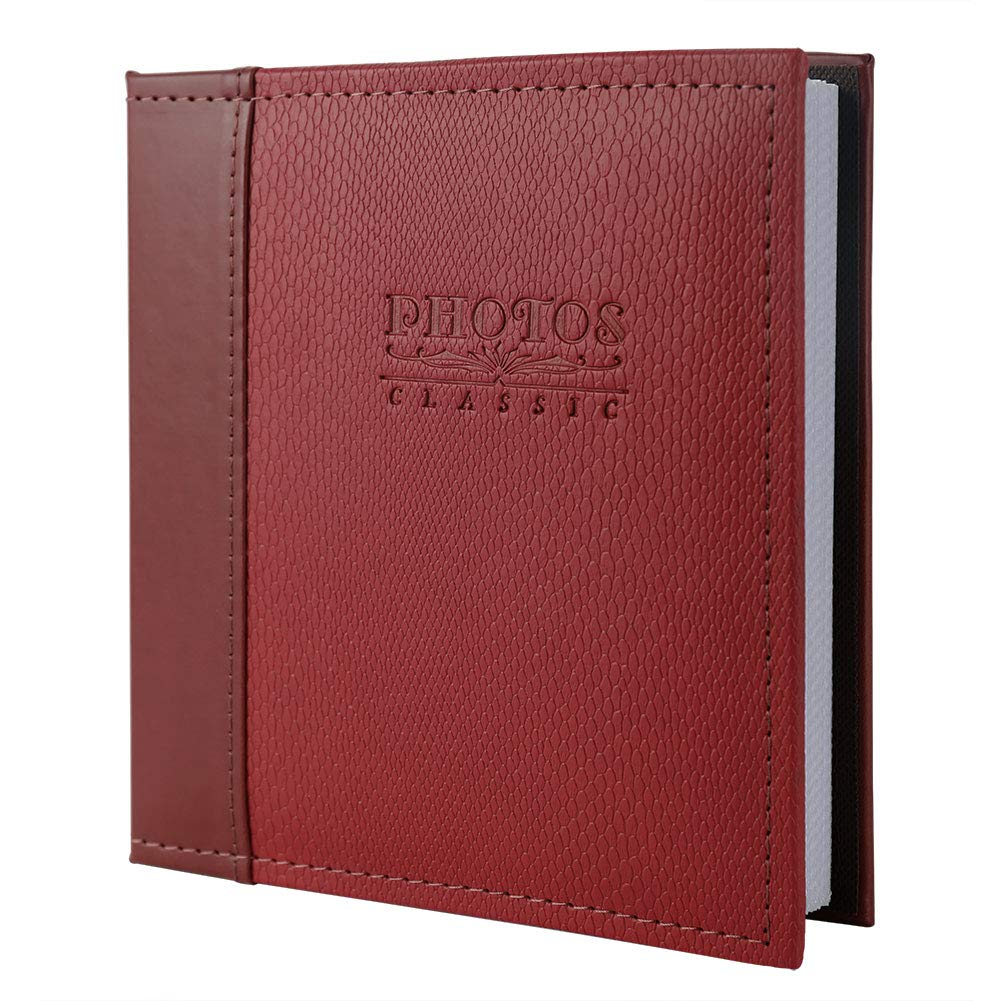 FaCraft 5x7 Photo Album Holds 80 Pieces Photos with Leather Cover (Coffee)