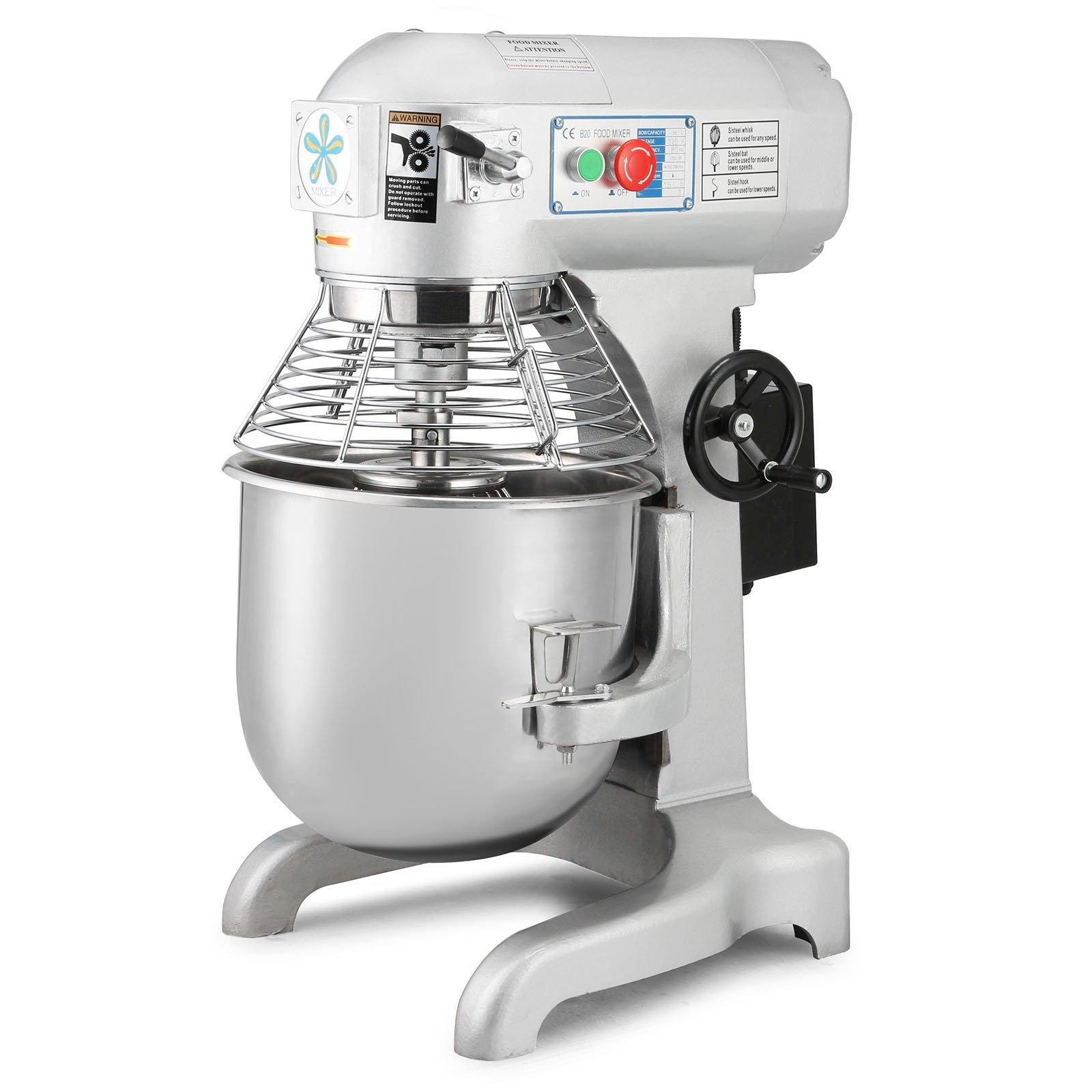 Happybuy Commercial Food Mixer 750W Dough Mixer Maker 3 Speeds Adjustable Commercial Mixer Grinder 94/165/386 RPM Stand Mixer (20 qt) by Happybuy (Image #1)