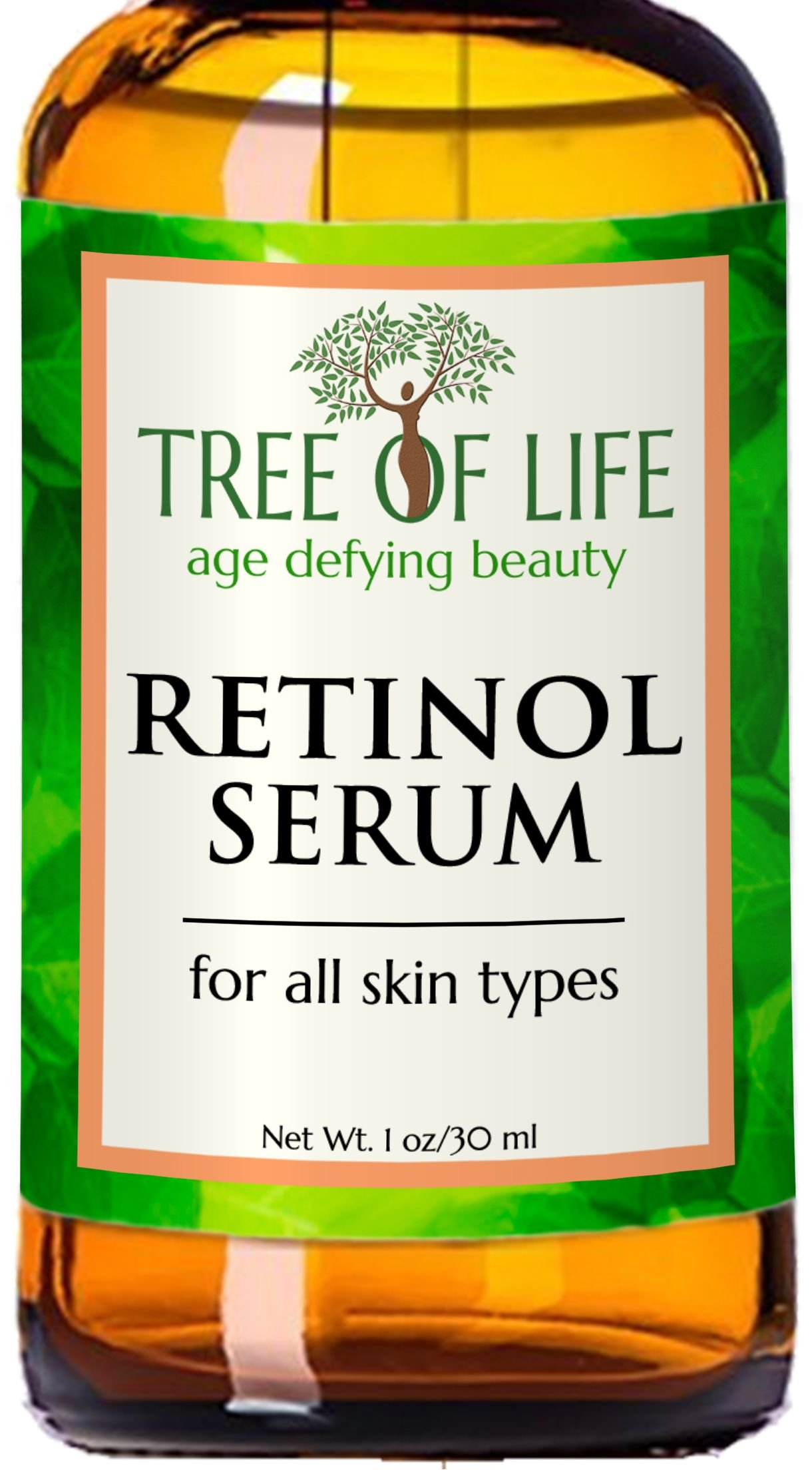 ToLB Retinol Serum - 72% ORGANIC - Clinical Strength Retinol Serum Face Moisturizer Cream for Anti Aging, Anti Wrinkle, Acne - Organic and Natural Ingredients - 1 oz by Flawless. Younger. Perfect. (Image #1)