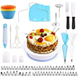 Cake Decorating Equipment, SPLAKS 106pcs Cake Decorating Set Cupcake Decorating Kit Baking Supplies with Nonslip…