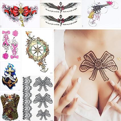 8 piezas con lazo patrón diseño brazo cuerpo Art tatuajes ...