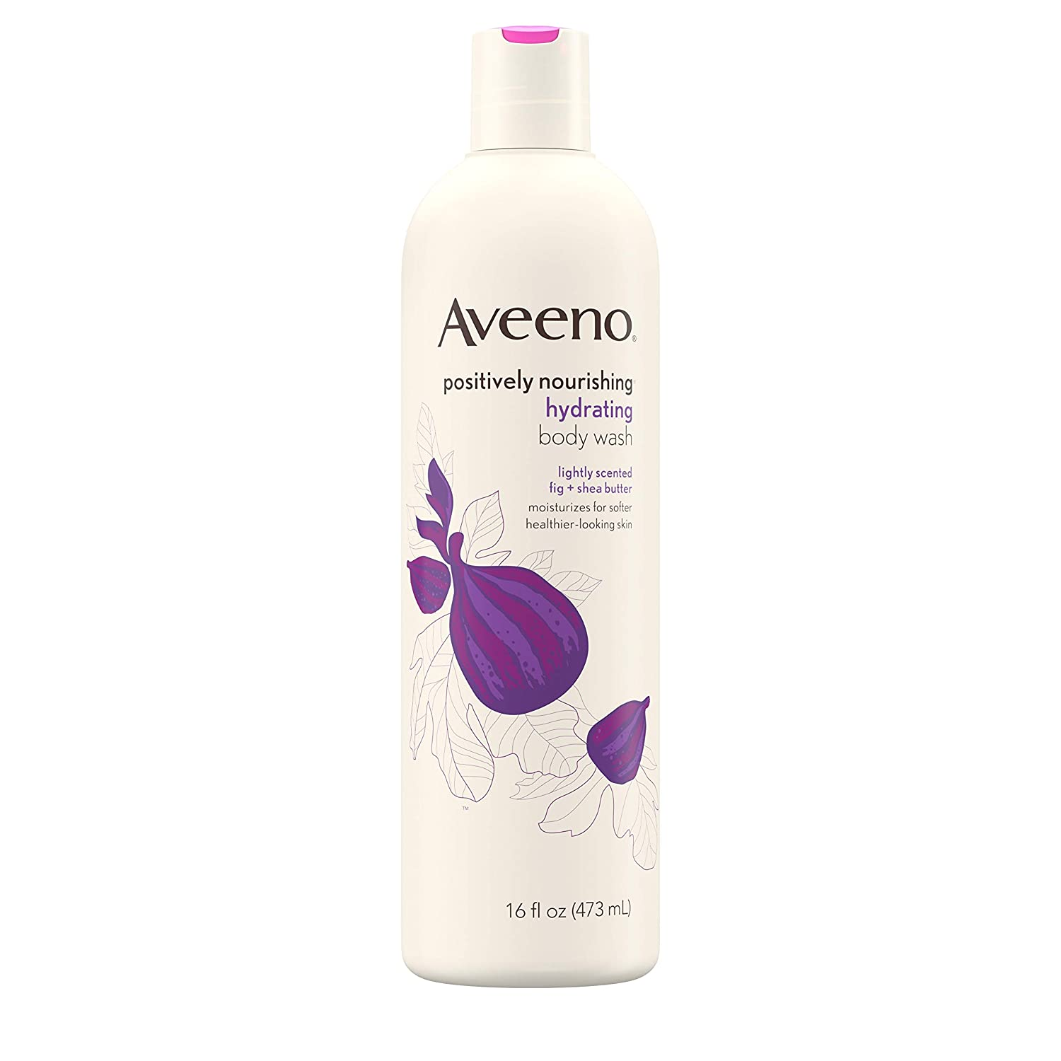 Aveeno Positively Nourishing Hydrating Body Wash for Dry Skin with Natural Fig & Shea Butter