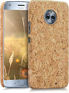 kwmobile Case Compatible with Motorola Moto X4 - Protective Cork Mobile Cell Phone Cover - Light Brown
