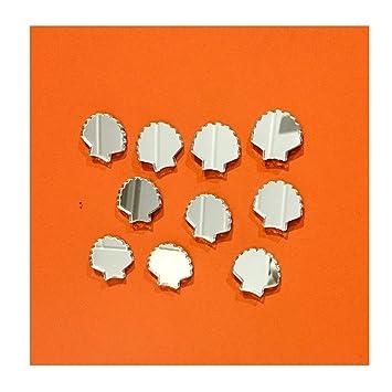 Scallop Shell Stück Glänzend Acryl Spiegel Wand Dekorations Embellishment   Home Decor   Dekoration Für Wohnzimmer