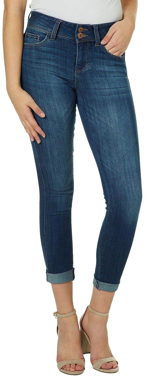 5415fa1246192 Amazon.com: Vanilla Star Juniors Roll Cuff Skinny Jeans 3 Medium wash:  Clothing