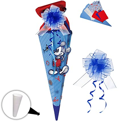 "/"" Disney Mickey Mouse /"" BASTELSET Schultüte 85 cm mit // ohne Kunststoff"
