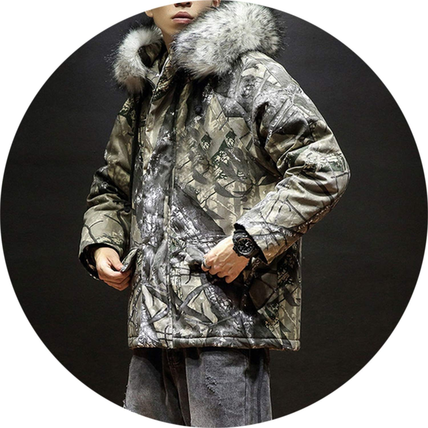 Amazon.com: Parka Men Winter Jackets Chaquetas Hombre Camo ...