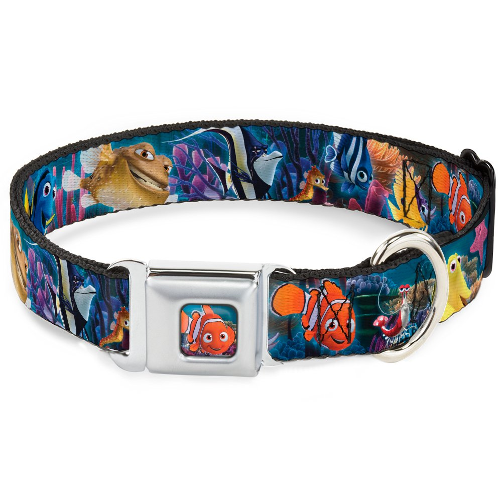 Buckle-Down DC-WDY266-WS DYHD Nemo Smiling Full color Dog Collar, WIDE-Small 13-18