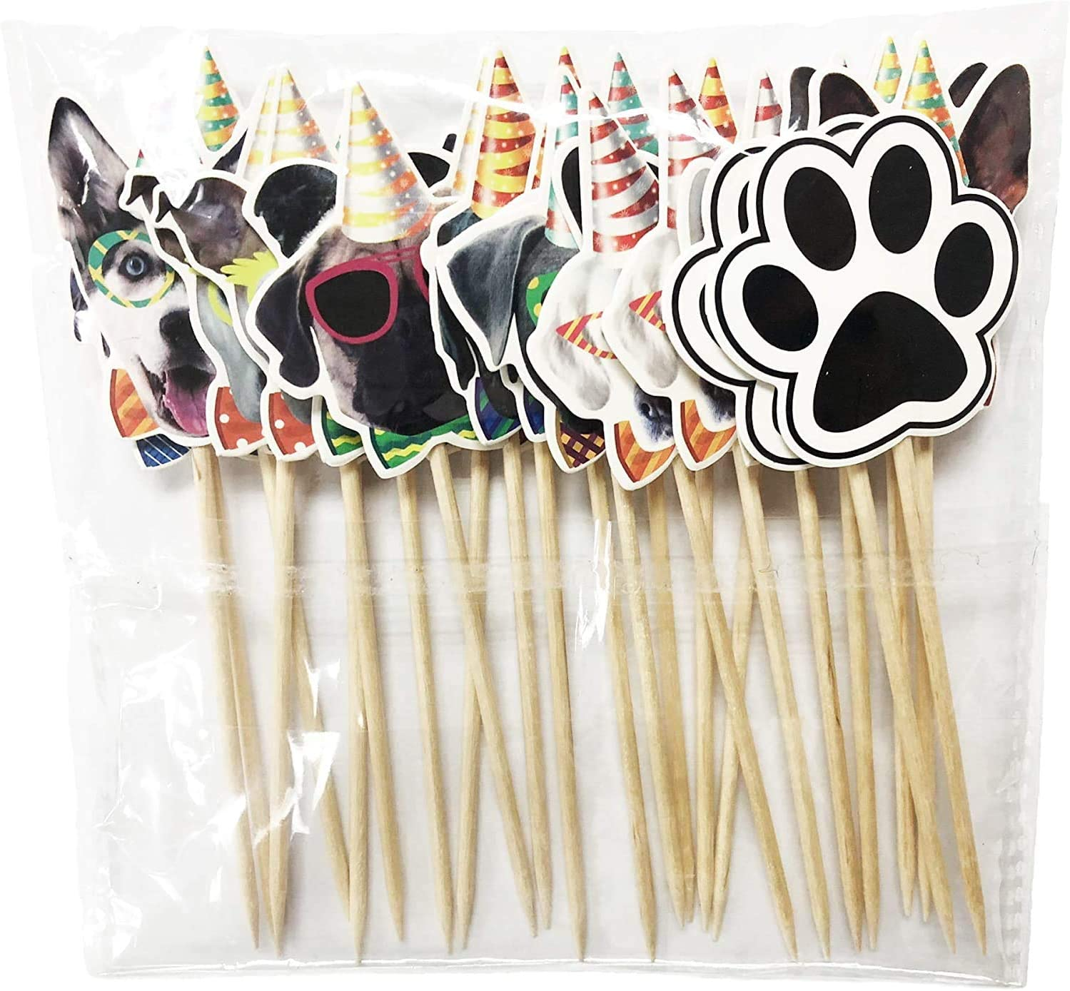 TwoMoon Cake topper cat Cat face Cake decoration Kitten pet theme decorations Childrens pet party Toothpick supplies for baby shower supplies 24PCS group widget