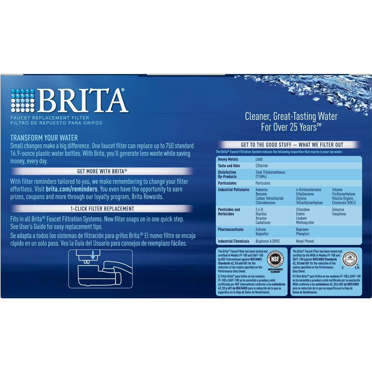 Brita 36313 Faucet Replacement Filters, 3ct, WHITE by Brita (Image #3)