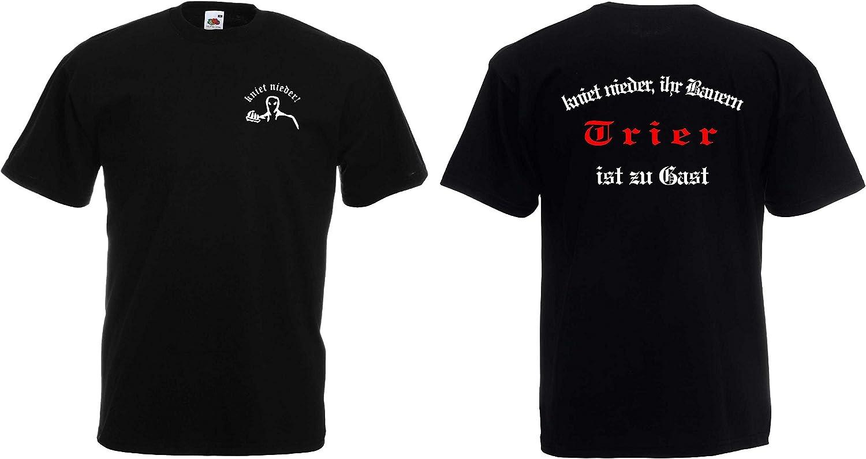 world-of-shirt Herren T-Shirt Trier Ultras kniet nieder