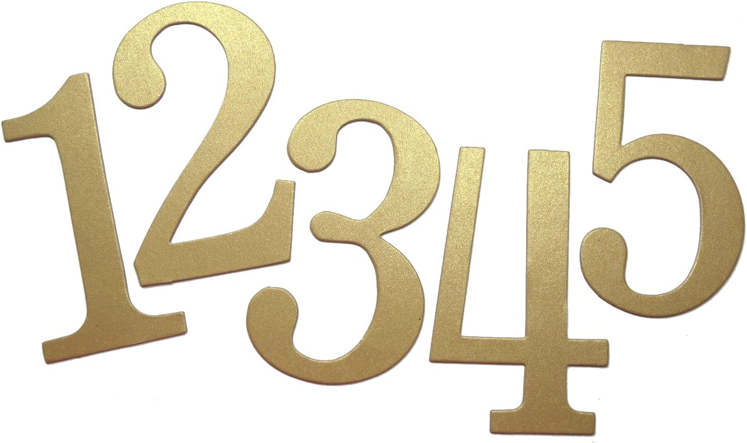 4 Shimmer Gold self-Adhesive Chipboard Table Numbers for Wedding//Banquets #1 to #50