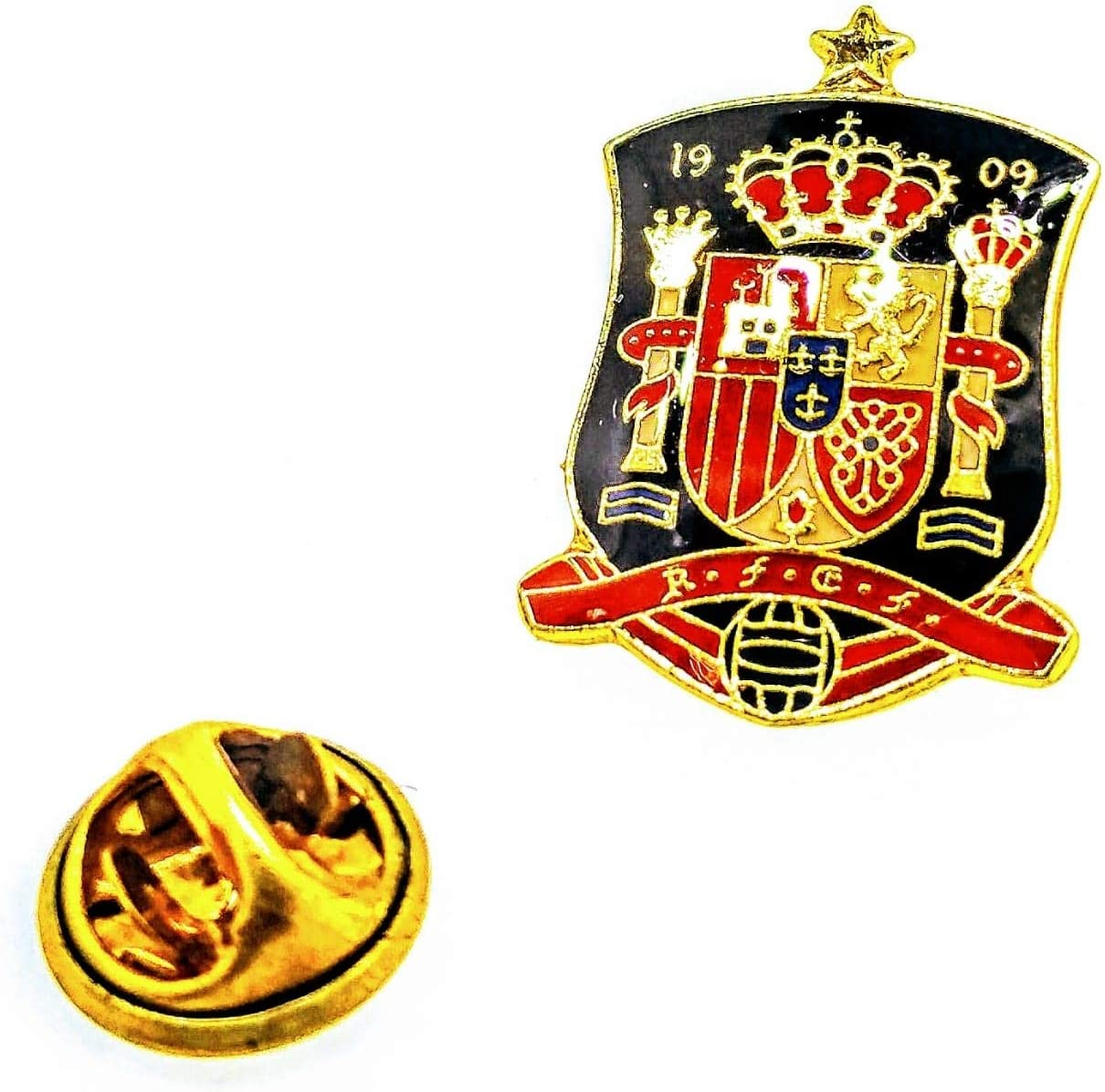 Pin de solapa Escudo Selección de Fútbol de España 25x18mm: Amazon.es: Hogar