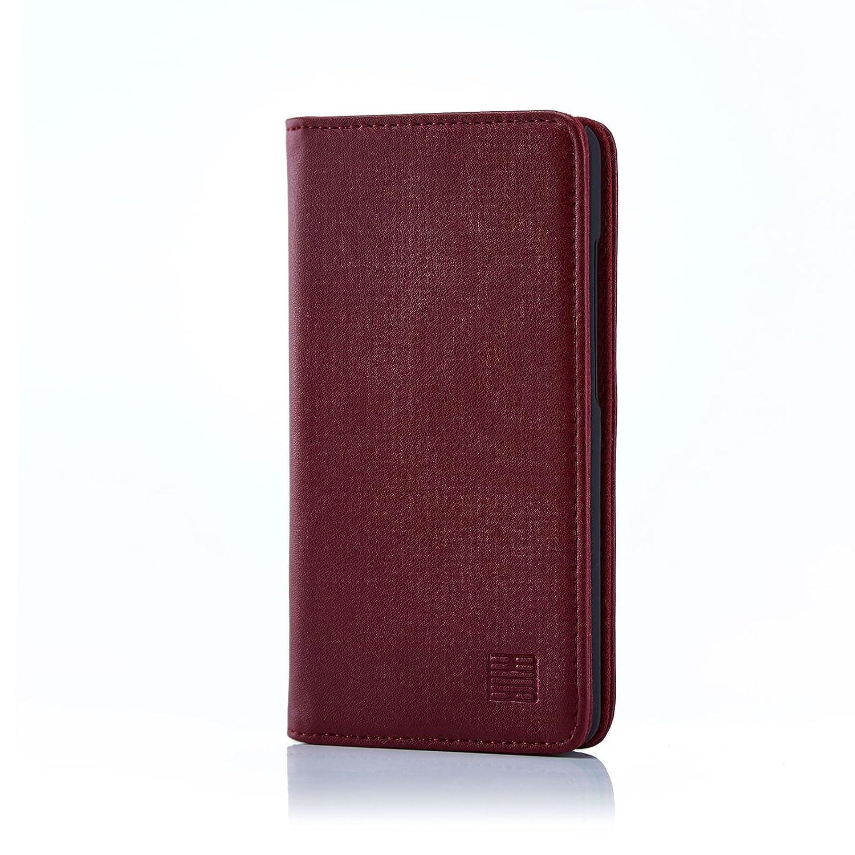 32nd Classic Series - Funda Tipo Libro de Piel Real para ZTE Blade L3, Carcasa de Cuero Premium diseñada con Cartera, Cierre Magnetico y Soporte ...