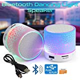 Deals Outlet Wireless LED Bluetooth Speaker With Disco Lights USB Plug & Play, FM Radio, Microsd Slot & Mp3 Player