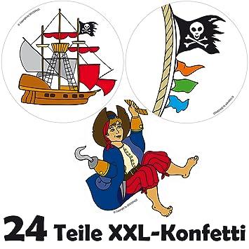 Xxl Großkonfetti Piratenjunge Mit 24 Großen Konfetti Teilen Für
