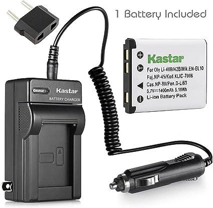 Amazon.com: Kastar batería + cargador para Fuji NP-45, NP-45 ...