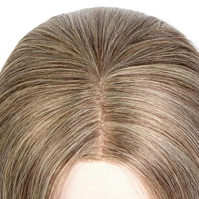 ASDF JL Peluca Ondulada Resistente Al Calor Fibra Sintética Peinados De Moda Fiesta Cosplay Pelucas + Gorra De Peluca (Rubio Claro): Amazon.es: Hogar
