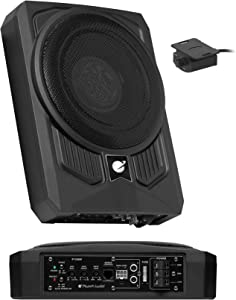 Planet Audio P10AW Amplified Car Subwoofer - 1000 Watts, Low Profile, 10 Inch Subwoofer, Remote Subwoofer Control, Great for Vehicles That Need Bass But Have Limited Space