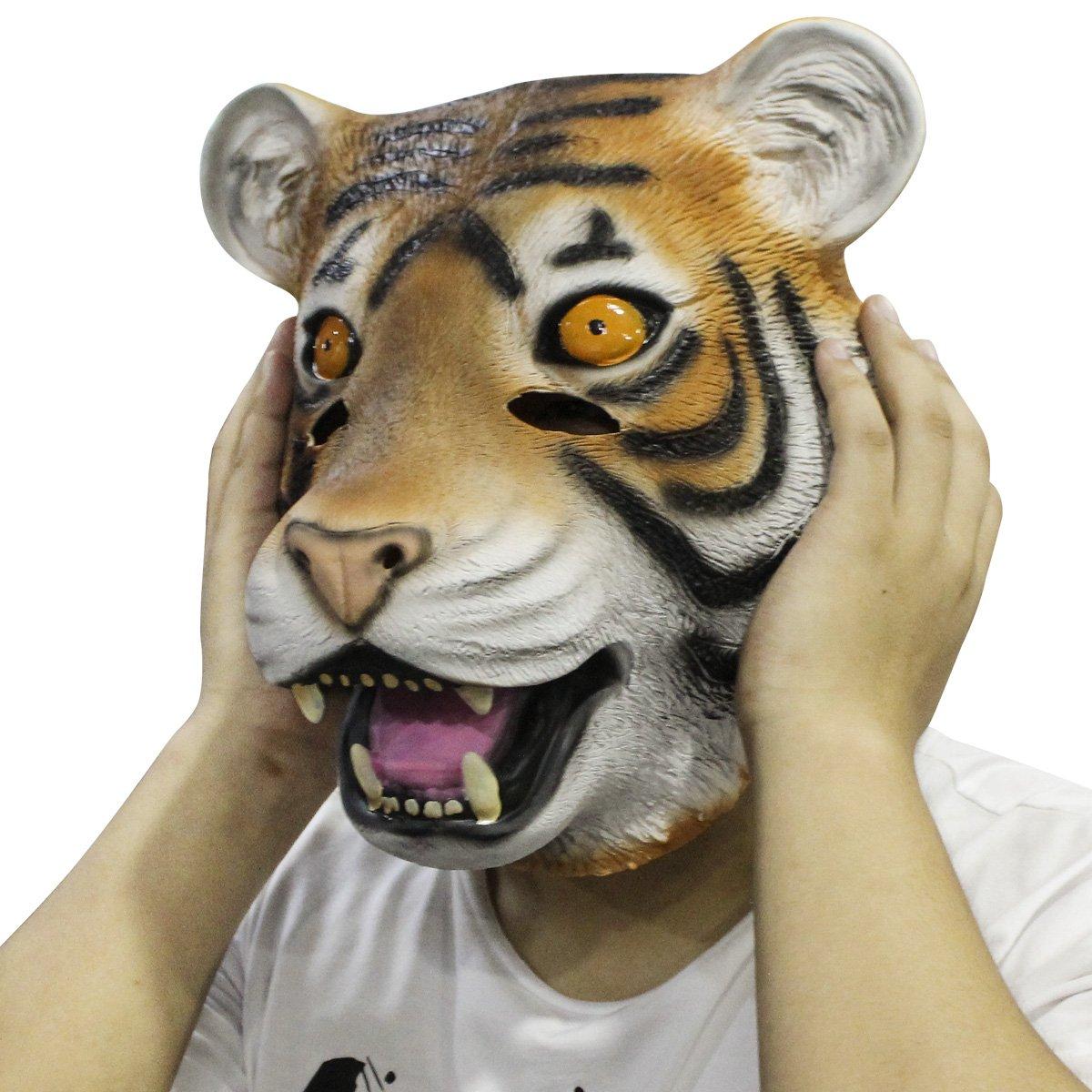 Cusfull novedad de lujo de látex de caucho espeluznante arriba mágico completo Máscara Halloween disfraces disfraz fiesta decoraciones: Amazon.es: Juguetes ...